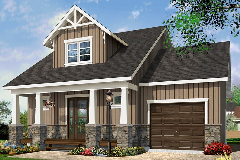 House Plan Design - Craftsman Exterior - Front Elevation Plan #23-2683