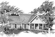 Ranch Style House Plan - 3 Beds 2 Baths 1370 Sq/Ft Plan #329-171 Exterior - Front Elevation