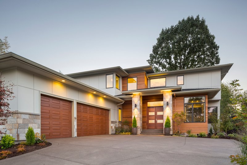 Home Plan - Contemporary Exterior - Front Elevation Plan #48-651