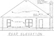 Craftsman Style House Plan - 3 Beds 2 Baths 1195 Sq/Ft Plan #20-1204 Exterior - Rear Elevation