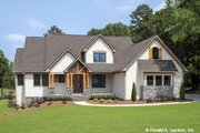 Craftsman Style House Plan - 5 Beds 4 Baths 2940 Sq/Ft Plan #929-1051 Exterior - Front Elevation