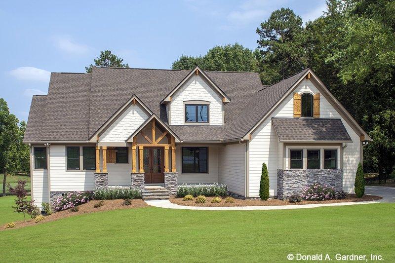 Architectural House Design - Craftsman Exterior - Front Elevation Plan #929-1051