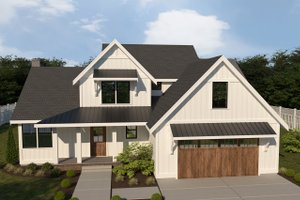 Dream House Plan - Farmhouse Exterior - Front Elevation Plan #1070-16