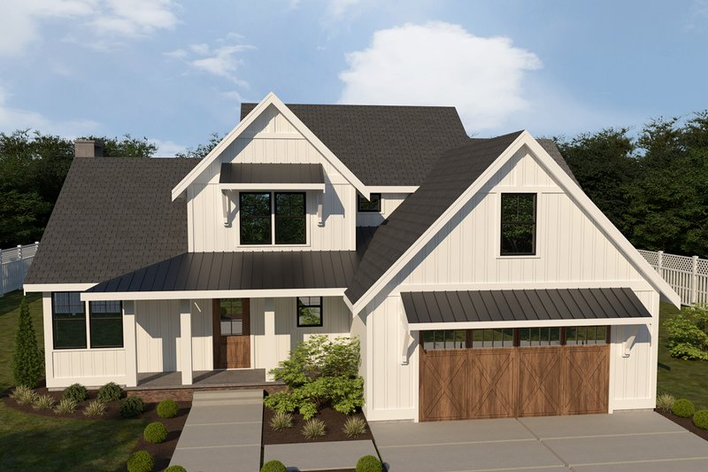 Farmhouse Style House Plan - 3 Beds 2.5 Baths 2346 Sq/Ft Plan #1070-16 Exterior - Front Elevation