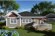 House Design - Craftsman Exterior - Rear Elevation Plan #70-1259