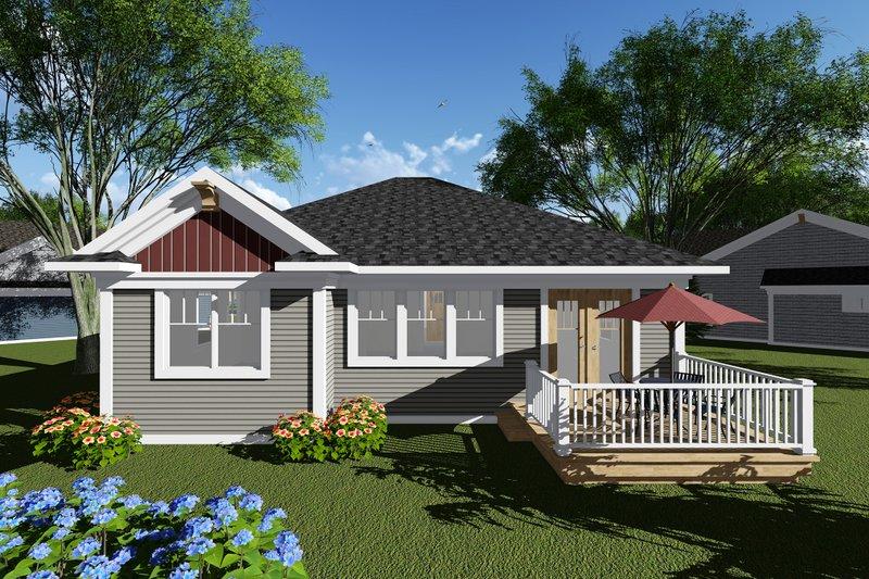 Craftsman Exterior - Rear Elevation Plan #70-1259 - Houseplans.com