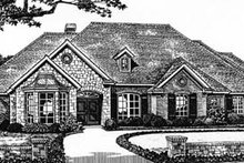 European Exterior - Front Elevation Plan #310-538