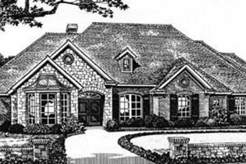 Architectural House Design - European Exterior - Front Elevation Plan #310-538