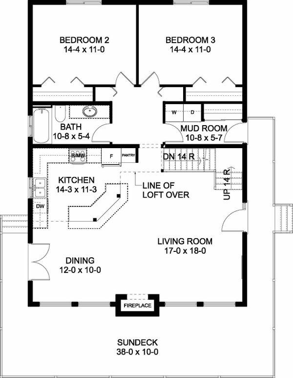 Contemporary Floor Plan - Main Floor Plan Plan #126-146