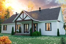 Farmhouse Exterior - Rear Elevation Plan #23-2723