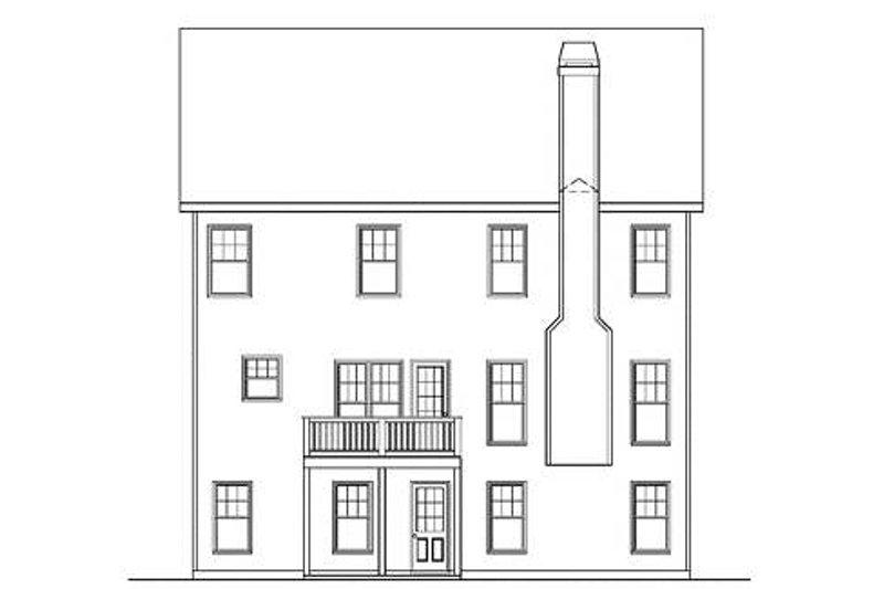 Craftsman Exterior - Rear Elevation Plan #419-224 - Houseplans.com