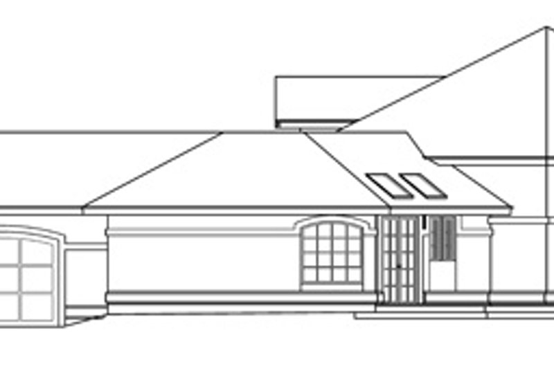 Ranch Exterior - Other Elevation Plan #124-425 - Houseplans.com