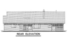 House Design - Ranch Exterior - Rear Elevation Plan #18-198