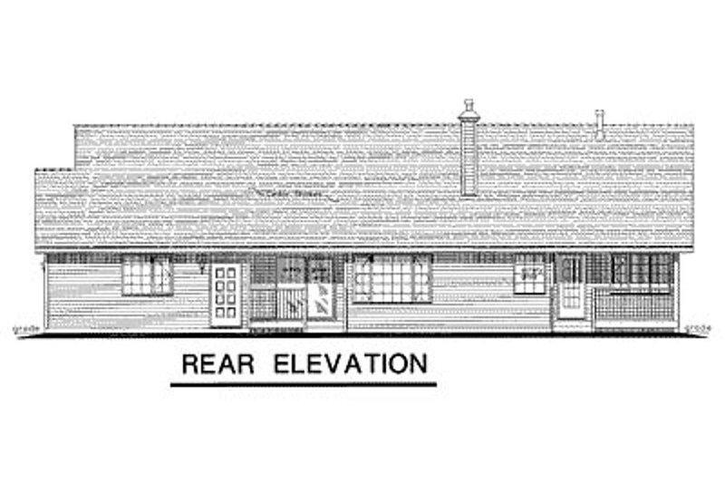 Ranch Exterior - Rear Elevation Plan #18-198 - Houseplans.com