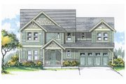 Craftsman Style House Plan - 3 Beds 2.5 Baths 2408 Sq/Ft Plan #53-484 Exterior - Front Elevation