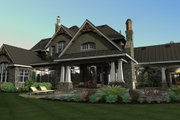Craftsman Style House Plan - 4 Beds 4 Baths 3349 Sq/Ft Plan #120-173 Exterior - Other Elevation