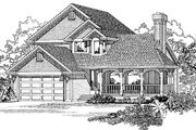 Traditional Style House Plan - 3 Beds 2.5 Baths 1716 Sq/Ft Plan #47-255 Exterior - Front Elevation