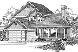 Traditional Exterior - Front Elevation Plan #47-255