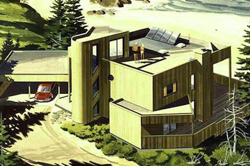 Dream House Plan - Modern Exterior - Front Elevation Plan #320-399