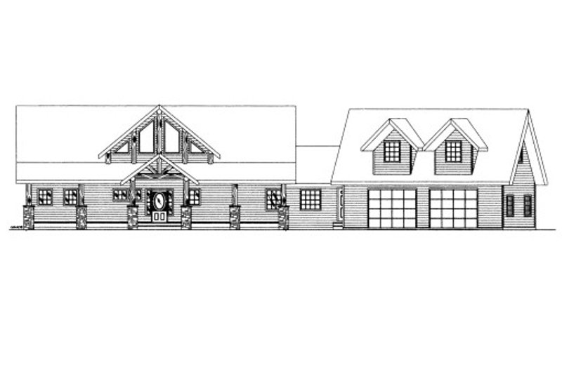 Craftsman Style House Plan - 3 Beds 2 Baths 2750 Sq/Ft Plan #117-703 Exterior - Front Elevation
