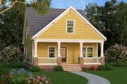 Bungalow Style House Plan - 4 Beds 3 Baths 1813 Sq/Ft Plan #419-301 Exterior - Front Elevation