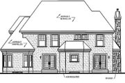 European Style House Plan - 4 Beds 3.5 Baths 2991 Sq/Ft Plan #23-408 Exterior - Rear Elevation