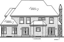 European Exterior - Rear Elevation Plan #23-408