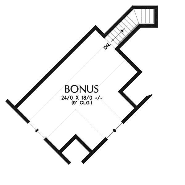 Craftsman Floor Plan - Upper Floor Plan Plan #48-945