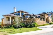 Mediterranean Style House Plan - 4 Beds 3 Baths 3583 Sq/Ft Plan #80-208 Exterior - Other Elevation