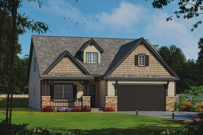 Craftsman Exterior - Front Elevation Plan #20-2254