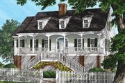 Southern Style House Plan - 4 Beds 3 Baths 2297 Sq/Ft Plan #137-237 Exterior - Front Elevation