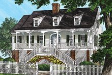 Southern Exterior - Front Elevation Plan #137-237