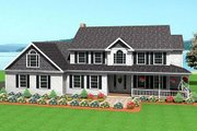 Farmhouse Style House Plan - 3 Beds 2.5 Baths 2620 Sq/Ft Plan #75-147 Exterior - Front Elevation