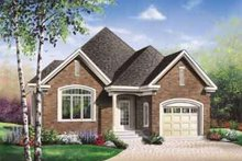 Dream House Plan - European Exterior - Front Elevation Plan #23-477
