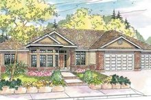 Traditional Exterior - Front Elevation Plan #124-597