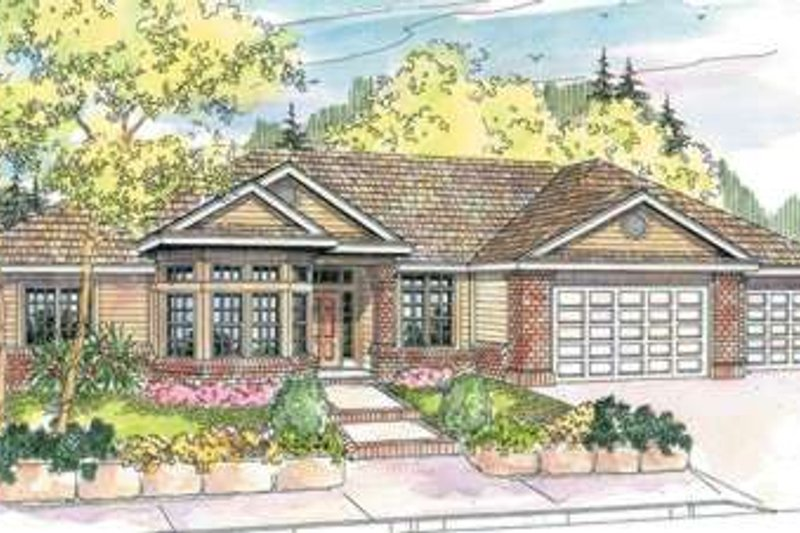 Traditional Style House Plan - 3 Beds 2.5 Baths 2653 Sq/Ft Plan #124-597 Exterior - Front Elevation