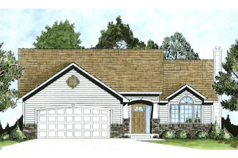 Architectural House Design - Craftsman Exterior - Front Elevation Plan #58-175