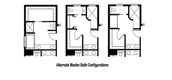 Alternate Master Bath Configurations