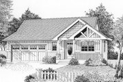 Craftsman Style House Plan - 3 Beds 2.5 Baths 1765 Sq/Ft Plan #53-172 Exterior - Front Elevation
