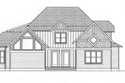 European Style House Plan - 4 Beds 3 Baths 3233 Sq/Ft Plan #413-103 Exterior - Rear Elevation