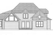 European Exterior - Rear Elevation Plan #413-103