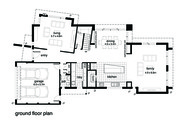 Modern Style House Plan - 4 Beds 2.5 Baths 3146 Sq/Ft Plan #496-19 Floor Plan - Main Floor Plan