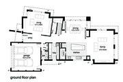 Modern Style House Plan - 4 Beds 2.5 Baths 3146 Sq/Ft Plan #496-19 Floor Plan - Main Floor Plan
