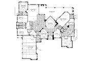 European Style House Plan - 5 Beds 6.5 Baths 6405 Sq/Ft Plan #417-447 Floor Plan - Main Floor Plan