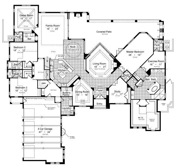 Architectural House Design - European Floor Plan - Main Floor Plan #417-447