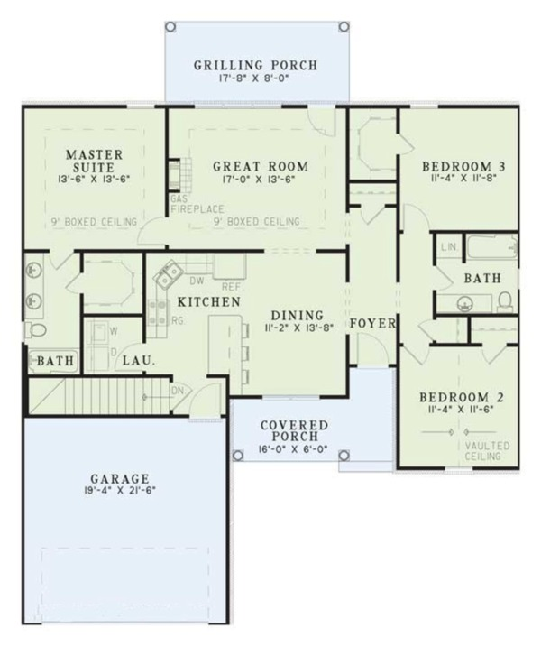 Contemporary Floor Plan - Main Floor Plan Plan #17-2891