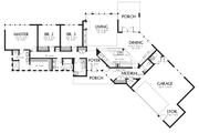 Contemporary Style House Plan - 3 Beds 2.5 Baths 2122 Sq/Ft Plan #48-698 Floor Plan - Main Floor Plan