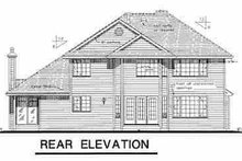 European Exterior - Rear Elevation Plan #18-237