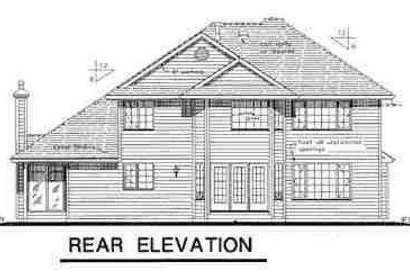 European Exterior - Rear Elevation Plan #18-237 - Houseplans.com