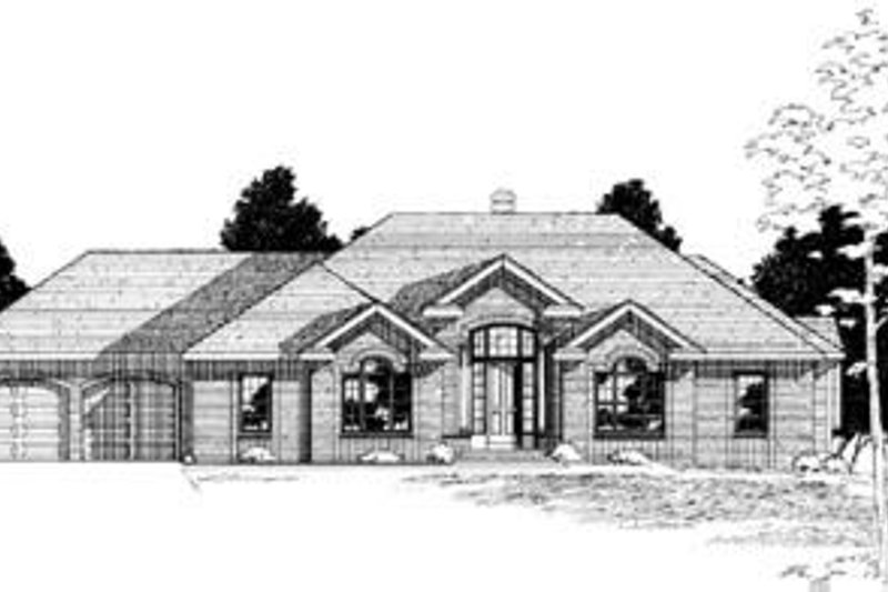 Dream House Plan - Traditional Exterior - Front Elevation Plan #20-909